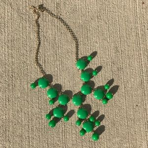 J.Crew bubble necklace in green